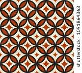 ancient marbled floor tiles ... | Shutterstock .eps vector #1091864363