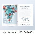 modern vector template for... | Shutterstock .eps vector #1091868488