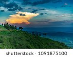 sunset view from karoit  nandi... | Shutterstock . vector #1091875100