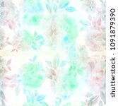 peony. seamless background....   Shutterstock . vector #1091879390