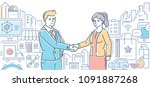small business helps people  ... | Shutterstock .eps vector #1091887268