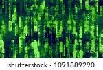 futuristic big data geometric... | Shutterstock .eps vector #1091889290