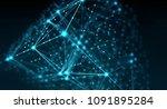 block chain network concept  ... | Shutterstock . vector #1091895284