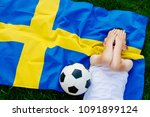 disappointed sweden national...   Shutterstock . vector #1091899124