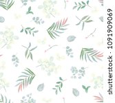 seamless pattern with tender... | Shutterstock .eps vector #1091909069