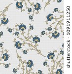 small flowers  patterns with... | Shutterstock .eps vector #1091911250