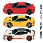 Side View Sports Sedan Vector...