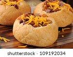 Chili Con Carne In Bread Bowls...