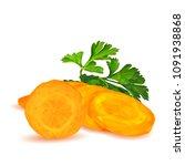 fresh  nutritious  tasty carrot ... | Shutterstock .eps vector #1091938868
