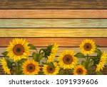 Illustration Of Sunflowers And...
