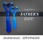 fathers day gift post greeting... | Shutterstock .eps vector #1091946260
