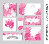elegant cards with decorative... | Shutterstock .eps vector #1091955026