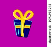 gift box. colored vector... | Shutterstock .eps vector #1091955248