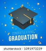 vector illustration graduation  ... | Shutterstock .eps vector #1091973239