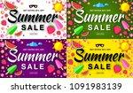 summer sale template horizontal ... | Shutterstock .eps vector #1091983139