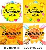 summer sale template banners....   Shutterstock .eps vector #1091983283