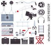 vector flat set with film... | Shutterstock .eps vector #1091985539