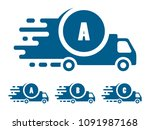 delivery icon set | Shutterstock .eps vector #1091987168
