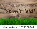 aged wooden background  gras ... | Shutterstock . vector #1091988764