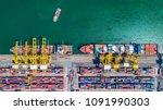 aerial view of  deep water... | Shutterstock . vector #1091990303