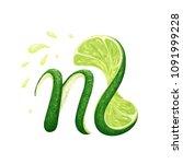a creative monogram logo with a ... | Shutterstock .eps vector #1091999228