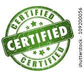 certified grunge stamp   Shutterstock . vector #109200056