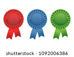 set of blue  green  red award... | Shutterstock .eps vector #1092006386