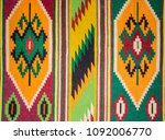 fragment of antique handmade... | Shutterstock . vector #1092006770