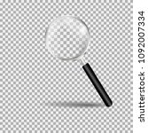 magnifying glass  loupe with... | Shutterstock .eps vector #1092007334