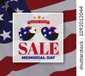 memorial day sale promotion...   Shutterstock .eps vector #1092012044