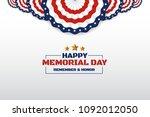 happy memorial day background...   Shutterstock .eps vector #1092012050