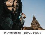 young tourist woman takin... | Shutterstock . vector #1092014039