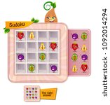 sudoku game for children with... | Shutterstock .eps vector #1092014294