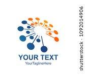 abstract vector circle logotype.... | Shutterstock .eps vector #1092014906