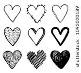 hand drawn set of different... | Shutterstock .eps vector #1092020189