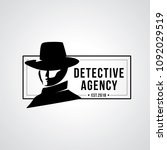 detective agency badge design.... | Shutterstock .eps vector #1092029519