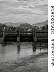 Small photo of view alongside the river salzach, shot from the south of salzburg/austria