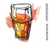 color set of beer glass  for... | Shutterstock . vector #1092035630