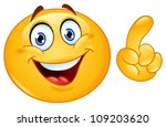 emoticon making a point | Shutterstock .eps vector #109203620