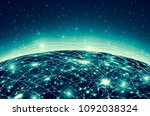 earth from space. best internet ... | Shutterstock . vector #1092038324