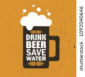 mug with beer and english text  ... | Shutterstock .eps vector #1092040646