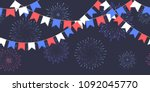 seamless garland with... | Shutterstock .eps vector #1092045770