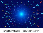 color luminescence trajectory...   Shutterstock .eps vector #1092048344