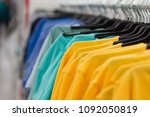 shopping background. t shirt at ... | Shutterstock . vector #1092050819