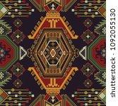 folk ornamental seamless... | Shutterstock . vector #1092055130