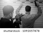 Small photo of The policeman spies holding guns to apprehend the terrorists