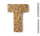 cork.alphabet.letter  t on... | Shutterstock . vector #1092058010