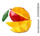 vector illustration of mango in ... | Shutterstock .eps vector #1092058034