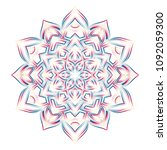 abstract color mandala flower... | Shutterstock .eps vector #1092059300