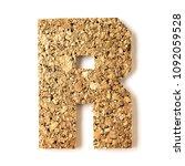 cork.alphabet.letter r  on... | Shutterstock . vector #1092059528